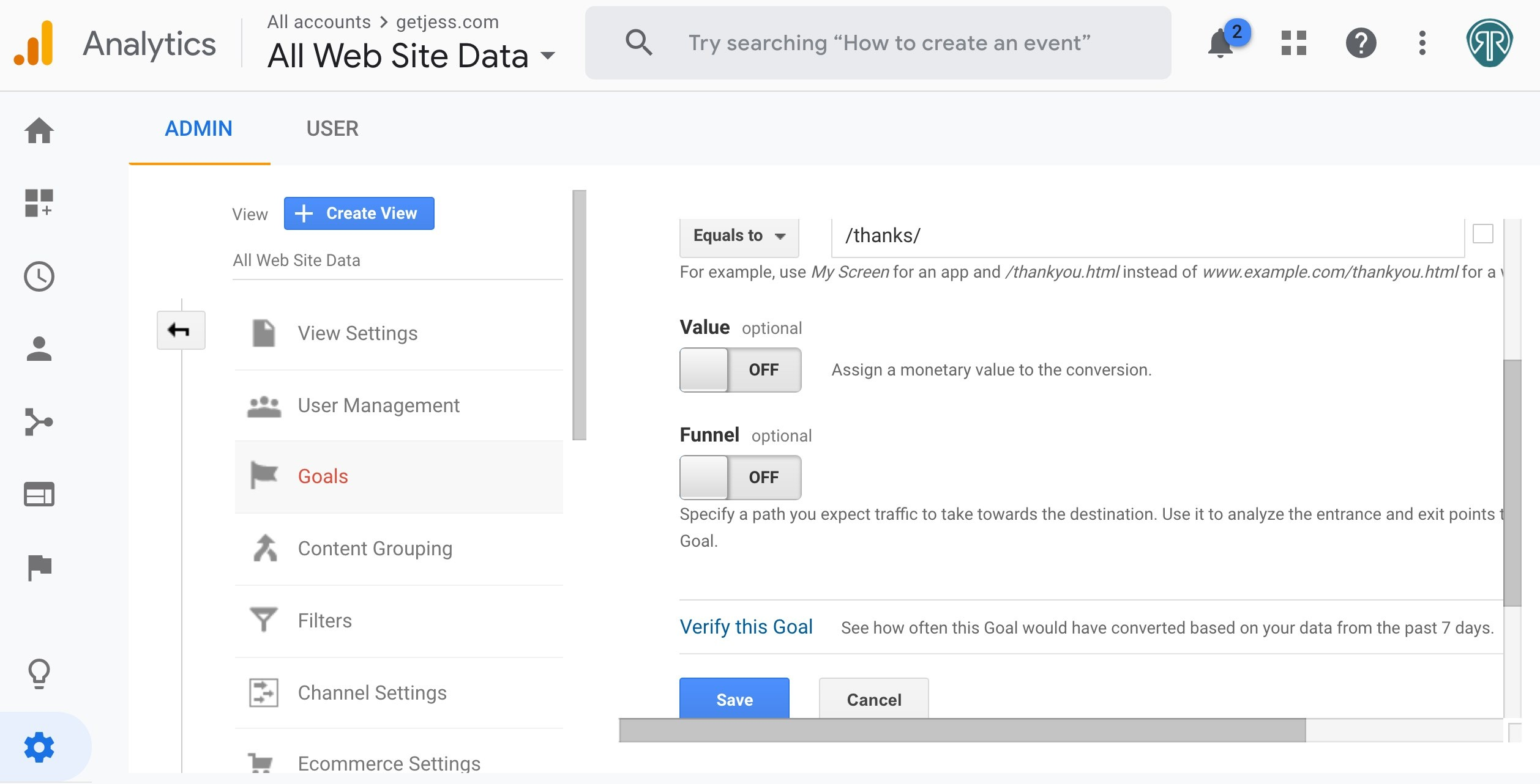 Google Analytics Destination Goals and How to Use Them