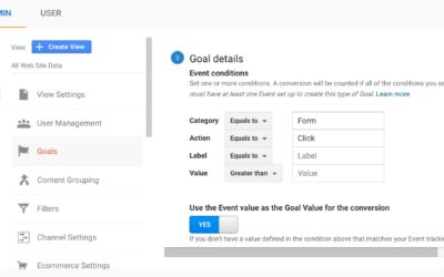 Setting Up Event Goals in Google Analytics