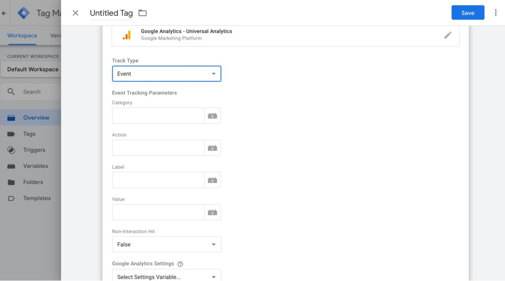 Google Tag Manager Configure Universal Analytics