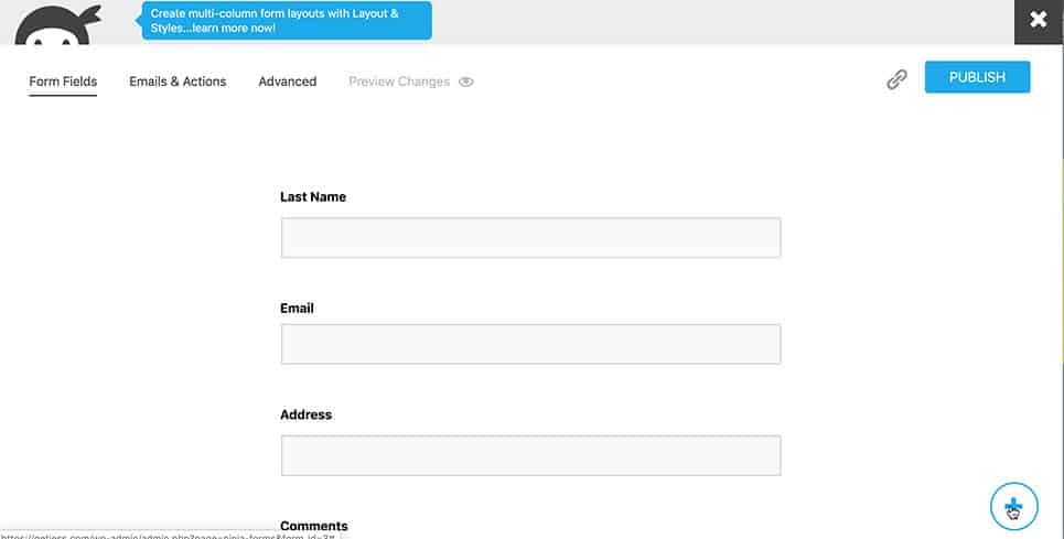 Screen shot of Gravity Forms HTML Block