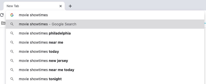 screenshot of google search suggestions