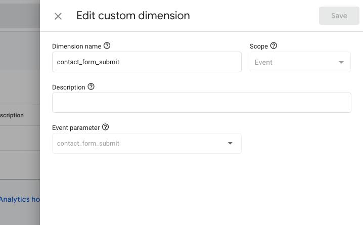 Screenshot showing Custom Dimension in GA4